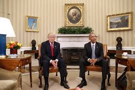 trump and obama meet for the first time and emphasize cooperation