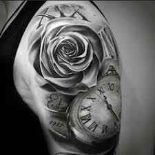 shaded black and grey ink guys numeral and pocket