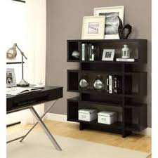 Modern Bookcase Furniture by Furniture Of America Tier Display Cabinet Bookcase Free