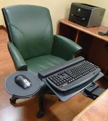 office desk with adjustable keyboard tray 5g keyboard tray and mouse platform humanscale up close and