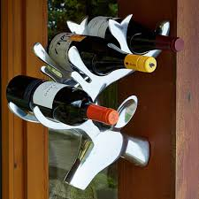 stag head wall wine rack for 3 bottles fantastic country home