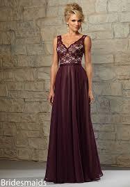 bridesmaids dress v neck sleeveless burgundy lace and chiffon vinatge bridesmaid