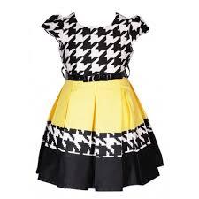 black white and yellow dress