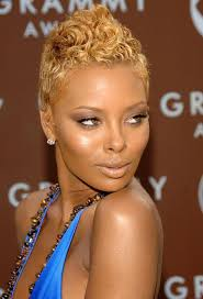 twa pixie on long hair celebrity hairstyles with color eva marcille s blonde waves