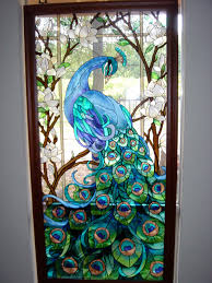 peacock stained glass door u003e u003e i u0027m pretty sure i wouldn u0027t let