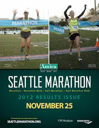 Seattle Marathon Map by Amica Insurance Seattle Marathon Results Issue 2012 By Seattle