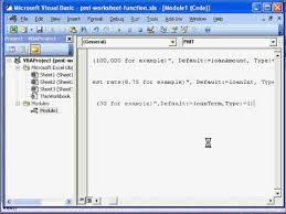 pmt worksheet function using vba youtube