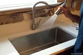 duo ventures kitchen makeover faucet u0026 drywall installation