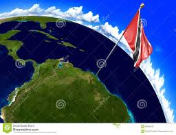 where is and tobago located on the world map and tobago national flag marking the country location on