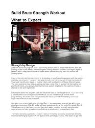 build brute strength workout hobbies individual sports