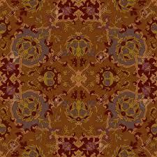 Brown Paisley Rug Seamless Paisley Or Oriental Rug Vector Geometric Pattern