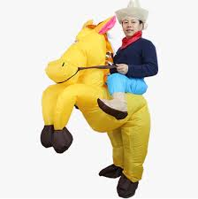 Inflatable Costume Halloween Brown Cowboy Horse Funny Inflatable Costume Halloween