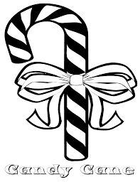 elegant candy cane coloring page 62 for your seasonal colouring