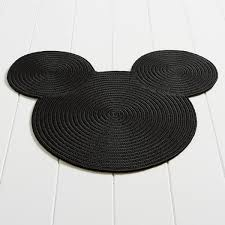 Black And White Braided Rug Mickey Mouse Braided Rug By Ethan Allen Shopdisney