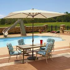 Patio Umbrella Cord amazon com adriatic 6 5 ft x 10 ft rectangular market umbrella