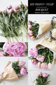 Tulip Bouquets How To Make A Peony Tulip Bouquet Mommy Diary