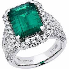 white emerald rings images Amoro 18k white gold colombian emerald ring and jpg