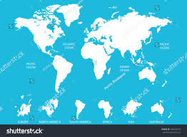 Asia World Map by White World Map Vector On Blue Stock Vector 556423270 Shutterstock