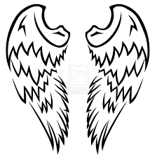 tribal angel wings tattoo design tattoomagz