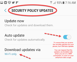 android security policy updates mobile security for home and business