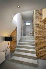 architecture beautiful staircase decor with brick wall and smart