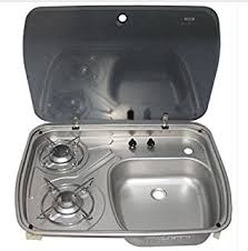 Rv Kitchen Sink Covers by Amazon Com Rv Caravan Camper Boating Gas Lpg Stove And Sink