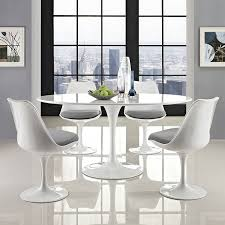 dining room table pedestal dining room fabulous white round dining table set small oval