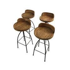 Wood And Metal Bar Stool Vintage U0026 Used Bar Stools Chairish