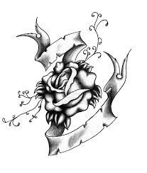 skulls with banners rose tattoo design jpg 1280 1509 mae