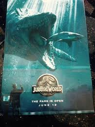 the park is open in new jurassic world poster cultjer