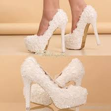 pearl wedding shoes lace wedding shoes bridesmaid shoes 12cm 14cm high