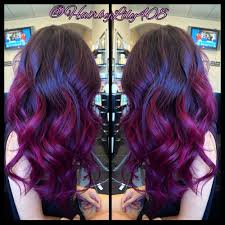 pink purple ombré balayage and long layer haircut yelp hair
