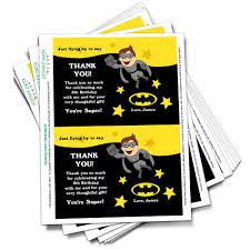 fabulous batman thank you cards with batman thank you cards ideas