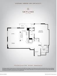 skyline 1 bedroom floor plan d3 skyline