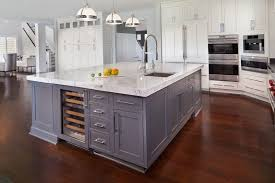 Transitional White Kitchen - kitchen island ideas kitchen transitional with recessed lighting