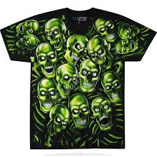 skull pile green black t shirt liquid blue j travis
