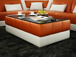 glass living room tables 28 images design modern high divani casa ev28 modern orange and white bonded leather coffee in