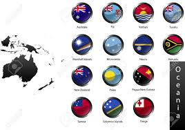 Flags Of Countries High Detailed National Flags Of Australia And Oceania Countries