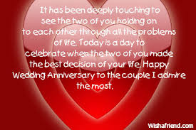 Best Wishes For Wedding Couple Anniversary Wishes
