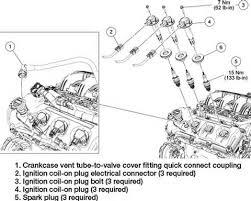ford escape ignition coil spark plugs upper cylinder 05 3 0 v