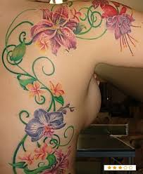 great idea but i would do it with tropical flowers tattoo ideas