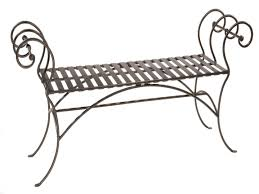 wrought iron bench ends sterling hammer tone brown in zoom oakland living wrought iron