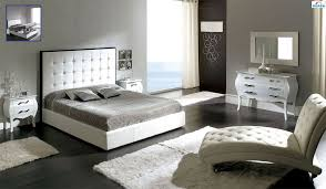White Tufted Headboard With Storage Bedroom Set Made In Spain - Tufted headboard bedroom sets