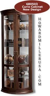 Modern Corner Curio Cabinet Interesting Contemporary Curved Corner Curio Cabinet For Your
