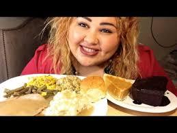 eat thanksgiving dinner with me mukbang show