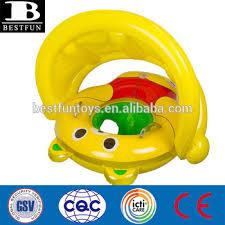 siege gonflable b haute qualité pvc gonflable bébé ours rider avec auvent durable