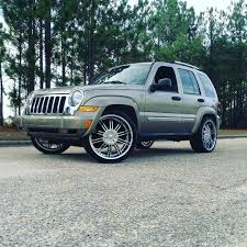jeep custom wheels 05 jeep liberty rocking those massa rims wrapped rimtyme