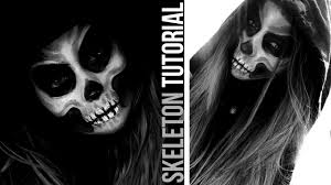 halloween skeleton images skeleton makeup easy halloween tutorial danielle mansutti