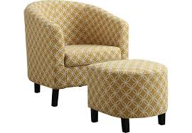 ferncroft yellow accent chair u0026 ottoman accent chairs yellow