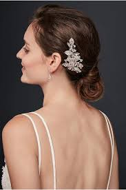 hair crystals wedding hair combs david s bridal